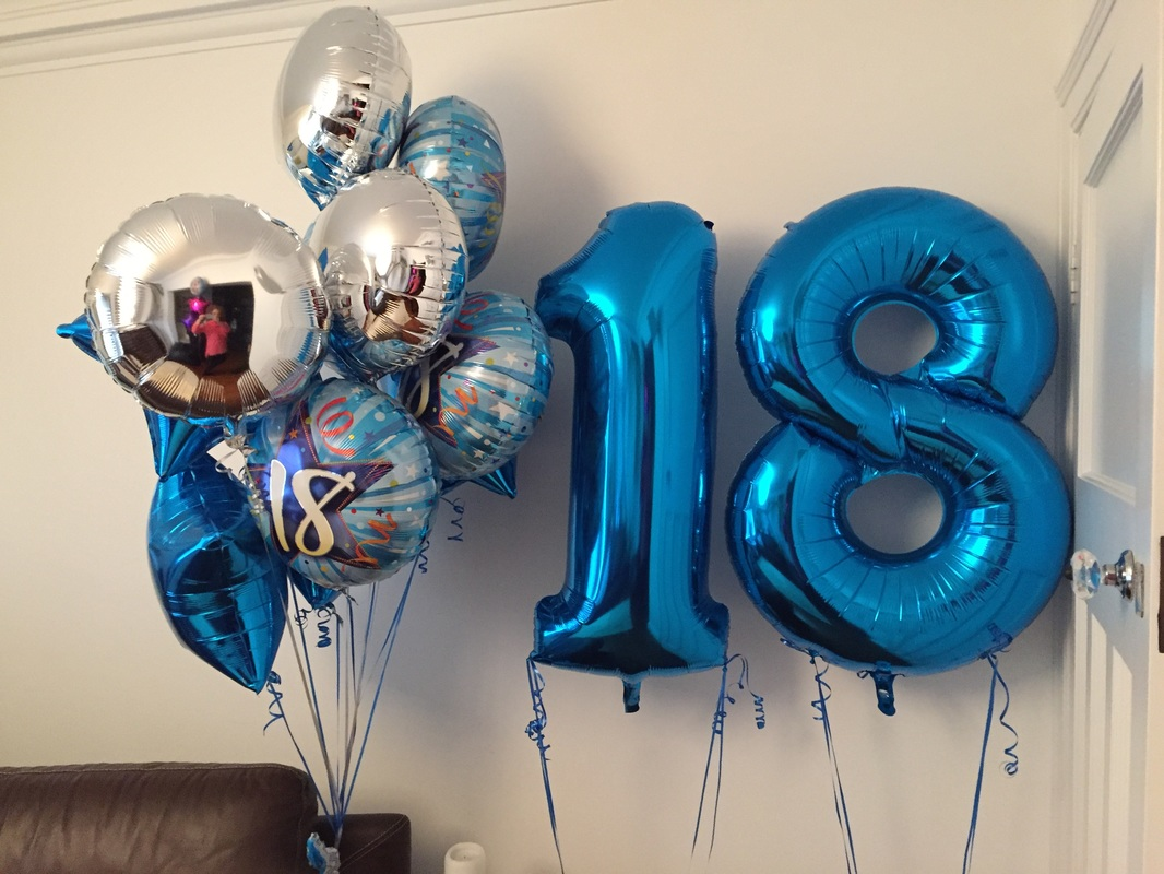 4 Sets Of 3 In Blue And Silver Foil With 18 Tops One Large Delivered To Ganges Restaurant Church Rd Hove