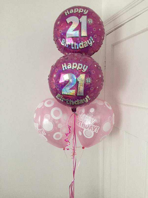 These 2 Foil 21st Birthday Balloons And 3 Latex Happy Were 16 Including Local Delivery