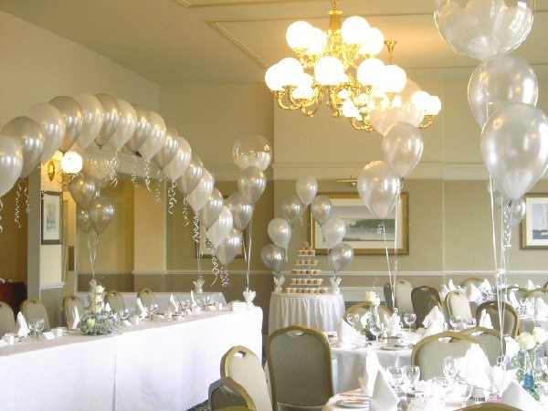 Balloons as wedding decor for Balloon decoration ideas for weddings