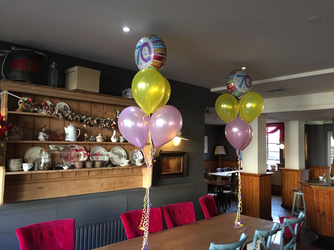70th Birthday Balloons At The Bridge In Shoreham By Sea