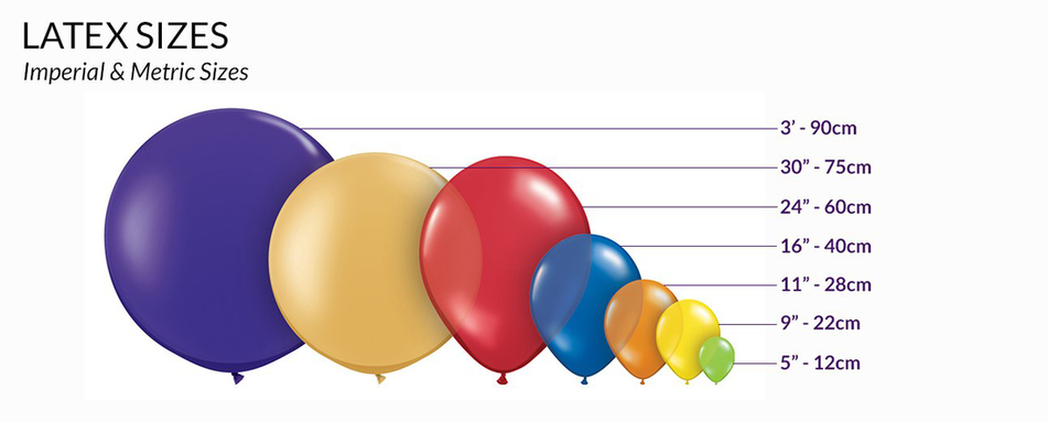 latex balloon sizes